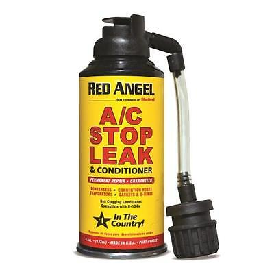 3 X Red Angel Auto Car Ac Air Conditioner Plug Leak Stop One Shot Aerosol + Hose