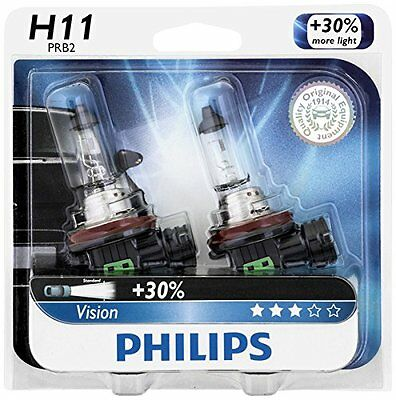 2x Philips H11 Upgrade Extra Bright Vision 12362 Halogen Light Bulb GERMANY Beam