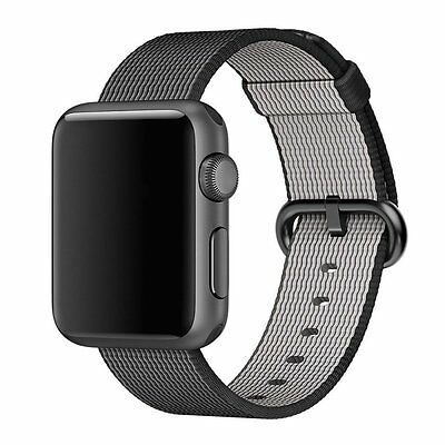 Mobiletto Apple Watch 42 mm Nylon Armband - Schwarz