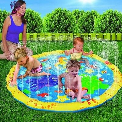 Kids Water Play Sprinkler Outdoor Toy Activity Hopscotch Mat Children Pool Toys