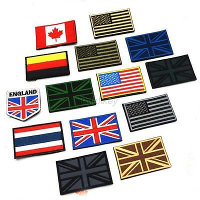 """HQ Nation Flag Emblem Iron On Patch Sew Embroidered Trim 2""""x3"""" Standard LOT"""