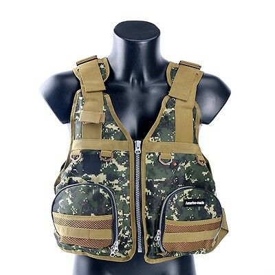 Boat Buoyancy Aid Sailing Kayak Fishing Life Jacket Vest Camouflage, Adjustable