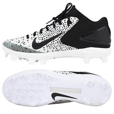 Nike Trout 3 Pro MCS Baseball Cleats BSBL White/Black 856502-009