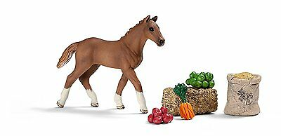 Brand New Schleich Horse Mini Playset Foal Eating 21025 Farm Life Play