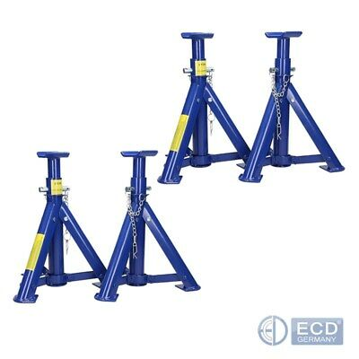 4x ADJUSTABLE SEALEY FOLDING AXLE STANDS SUPPORTS 3 TONNE PER STAND HEAVY DUTY