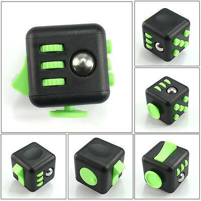 1PCs Stress Relief Fidget Cube Dice Gift For Family Adults Kids Black Green