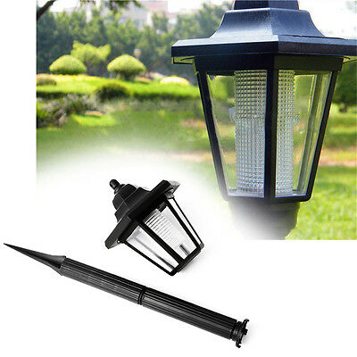 Outdoor Solar Power LED Path Way Wall Landscape Mount Garden Fence Light Lamp