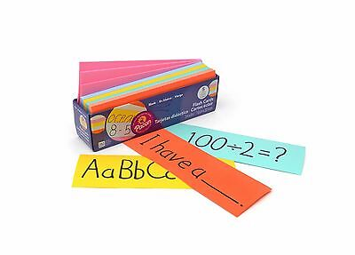 250pk LARGE BLANK FLASH CARDS: ASSORTED PASTEL COLOURS (76x228mm)