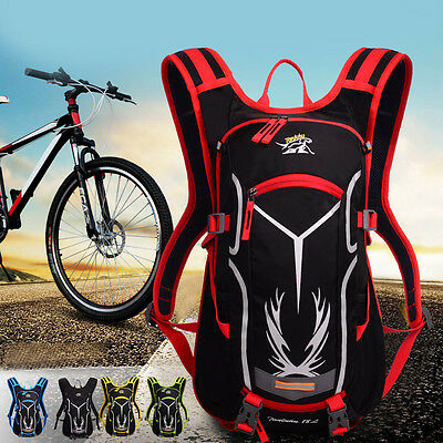 18L Bicycle Cycling Rucksack Backpack Hydration Hiking Helmet Water Bladder Bag
