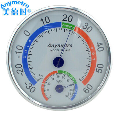 Househeld Indoor Round Analog Thermometer Hygrometer Temperature Humidity Gauge