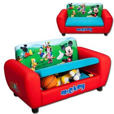 Mickey Maus Kindersofa gepolstert Holz Sessel Sofa Couch Stuhl Hocker Micky