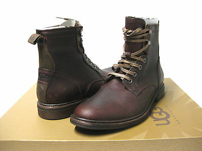91e38e5ced3 UGG AUSTRALIA MENS Selwood Bomber Lace Up Casual Cold Weather Winter ...
