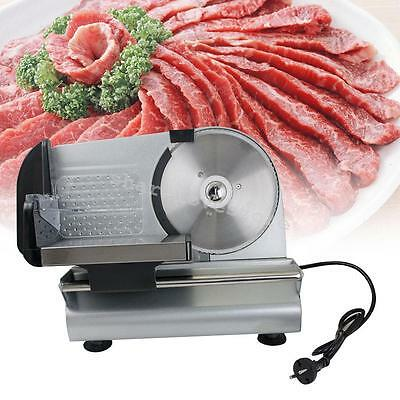 """7.5"""" Blade 220V Electric Slicer Meat Commercial Steel Cheese Cut Restaurant Home"""