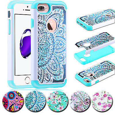 Shockproof Hybrid Rugged Rubber Bling Hard Case Cover For iPhone 6 / 6s / 7 Plus