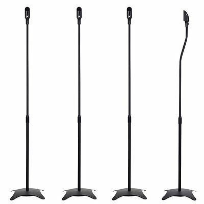 2?Pairs of Universal Box Speaker Stands Black Each 4.5?kg Load Rating