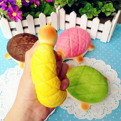 13cm Jumbo Squishy Bread Scented Tortoise Phone Charms Bun Soft Straps Fun Toy D