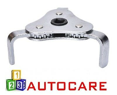 3 Leg 2 Way Oil Fuel Filter Remover Wrench 65-130mm Range