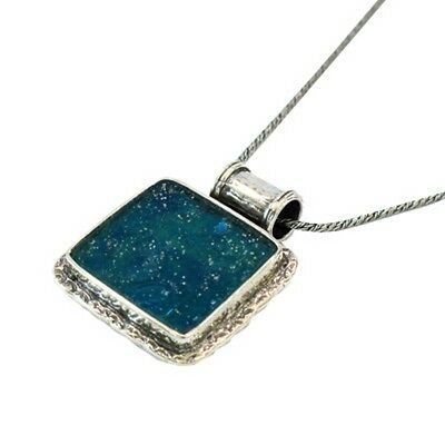 Roman glass exquisite pendant on a silver base necklace