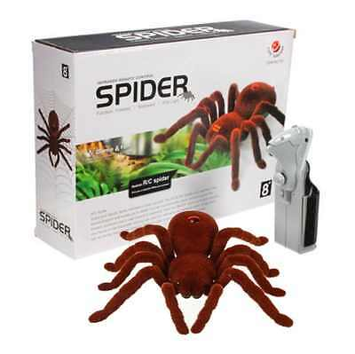 Tairacy Remote Control Spider Soft Plush Scary Creepy Infrared RC Tarantula Toy
