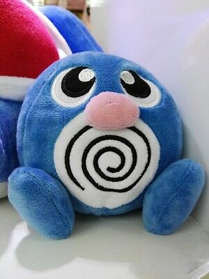 Pokemon Plush Poliwag Figure Plush Toy Soft Doll 5.5in Collection Gift