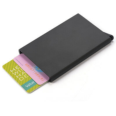 Wallet Metal Case RFID Theft Protection Credit Card Wallet Holder Black HS817
