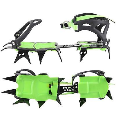 BRS-S1A Fourteen Teeth Bundled Crampons Professional Ice Gripper Adjustable Size