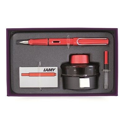 Lamy Pens Safari Fountain Pen Holiday Gift Set Red L16HS