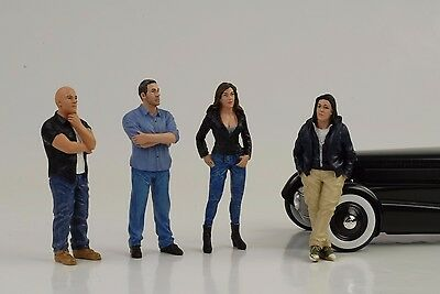 Figurine Figure Street Racing Crew Racer Set 4 pcs 1:18 American Diorama no car