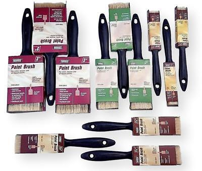 "Paint Brushes All Purpose Lot of 12 Pc Set Assortment 1"" 1.5"" 2"" 3"""