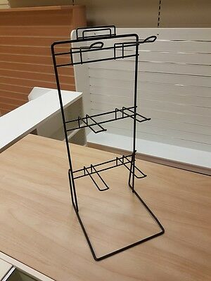 Used Black Metal Wire Counter Top Euro Hook Display Stand £12.00 + Vat Pack Of 2