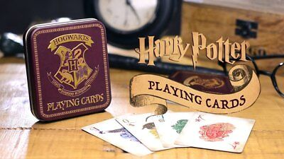 Harry Potter : Playing Cards with matching HOGWARTS Tin from Paladone