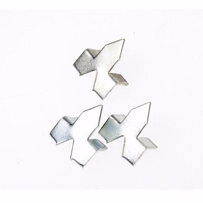 TIC PUSH POINT GLAZIER FRAMING PINS 100Pcs, Easy To Install, Zinc Plated SILVER