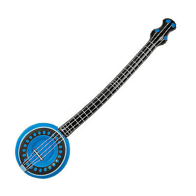 """37"""" Inflatable Blue Banjo String Musical Instrument Inflate Blow Up Kids Toy"""