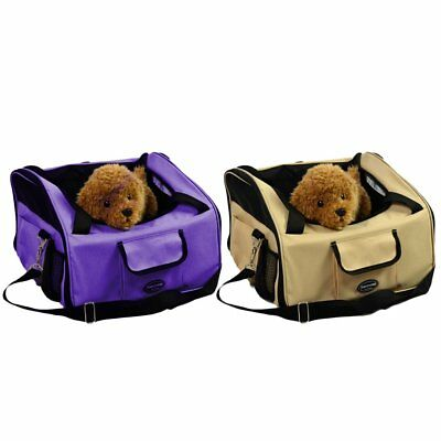 Portable Dog Travel Booster Bag Safety Belt Cat Puppy Pet Car Seat Carrier Cover