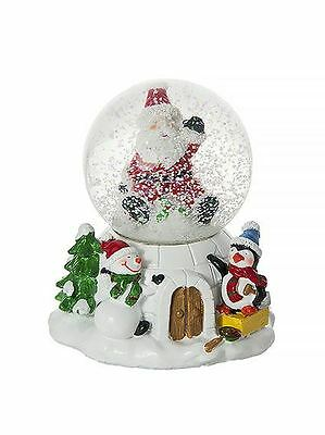 Musical  Christmas Xmas Decorative Snow Globe Home Decoration Present Gift