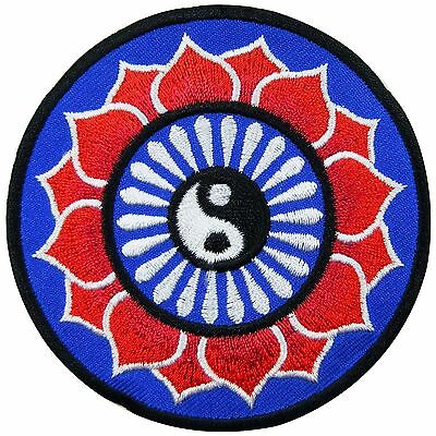 Yin Yang Tao Taoism Aum Ohm Om Lotus Peace Hippie Boho Iron-On Patches #AU027