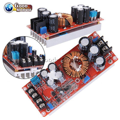 1200W DC-DC Boost Converter Power Supply 8-60V 12V Step up to 12-83V 24V/48V 20A