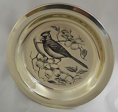 "FRANKLIN MINT STERLING SILVER COLLECTOR PLATE ""The Cardinal"", 1972, COA"