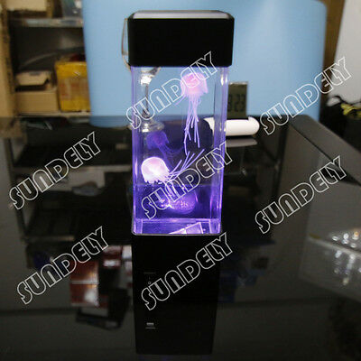 NEW! Jellyfish Aquarium Tank LED Lights Lamp Relaxing Bedside Mood Light Gift