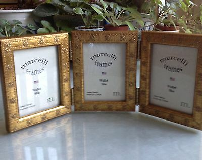 NEW! A Trio Of Photo Frames/Hinged By: Marcelli. FREE Shipping MINT!