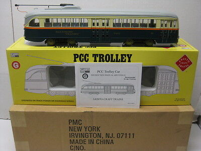 ART- 23309 Aristocraft PCC Trolley/Streetcar (Baltimore),G Scale Factory New.