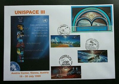 United Nation Unispace 1999 Earth Space Planet Universal Astronomy (FDC) *rare