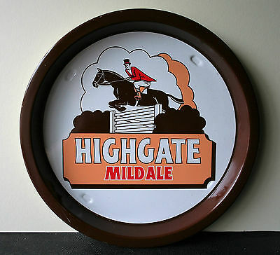 HIGHGATE MILD ALE Vintage Advertising Pub Bar Beer tray Retro