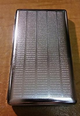 Eclipse Silver One Sided Mirror Metal 120s Size Cigarette Case