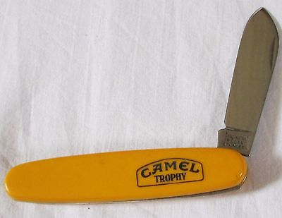 CAMEL TROPHY collectible LAND ROVER Imperial blade yellow pocket knife penknife