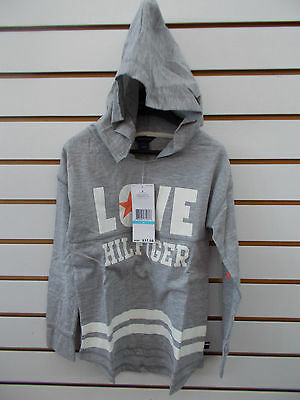 Girls Tommy Hilfiger $37.50 Gray Long Sleeved Hooded T-Shirt Size 4 - 6X