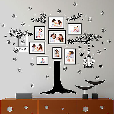 Swarovski Crystals & Family Tree Murals Decals Home Decoration Wall Stickers