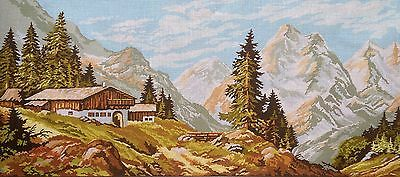 """Gobelin Tapestry Needlepoint Kit """"Landscape"""" hand embroidery printed canvas 131"""