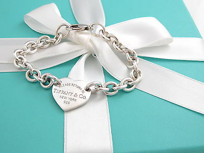 Auth Tiffany & Co Return to Tiffany Heart Tag Charm Bracelet $275