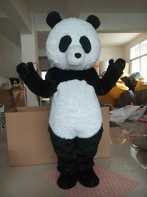 2016Panda Bear Mascot Costume Fancy Dress Adult Outfit party clothing